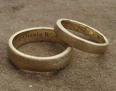 Handmade Unusual Gold Wedding Ring LOVE2HAVE In The UK