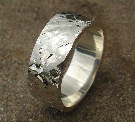 Mens Unique Sterling Silver Ring LOVE2HAVE In The UK