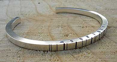 Silver Personalised Barcode Bracelet LOVE2HAVE In The UK