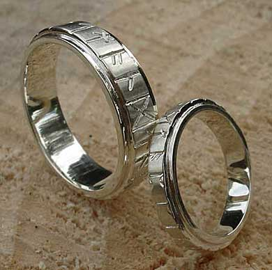 Womens Gold Rune Wedding Ring LOVE2HAVE In The UK