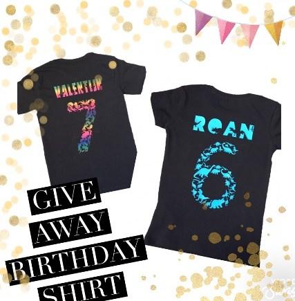 GiveAway winactie verjaardagsshirts Love2try.nl