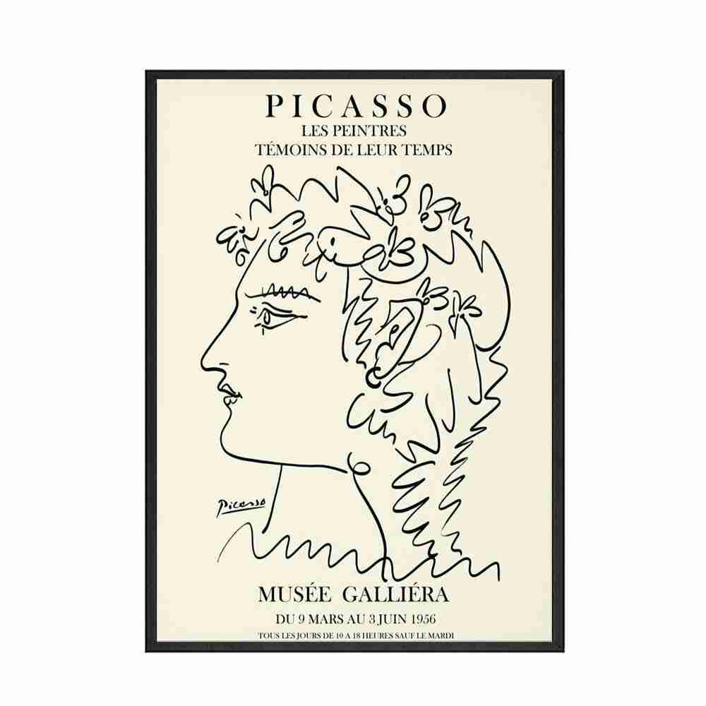 Poster e stampe retrò Picasso matau-abstract Girl Body Flower Wall Art Canvas Painting Pictures For Living Nordic Deco
