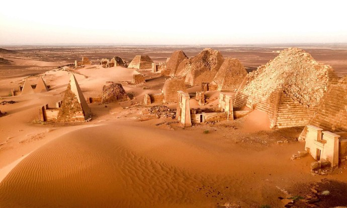 The Kushite Pyramids of Meroe Sudan