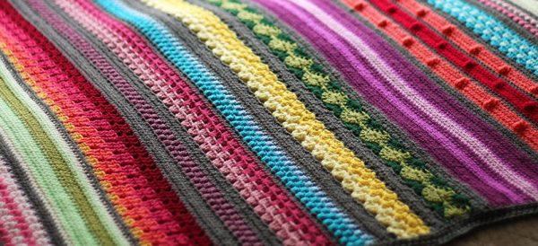 Rainbow Sampler Blanket Crochet Kirsten Ballering