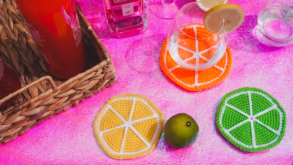 Love Aly Citrus Coaster Crochet Free Pattern