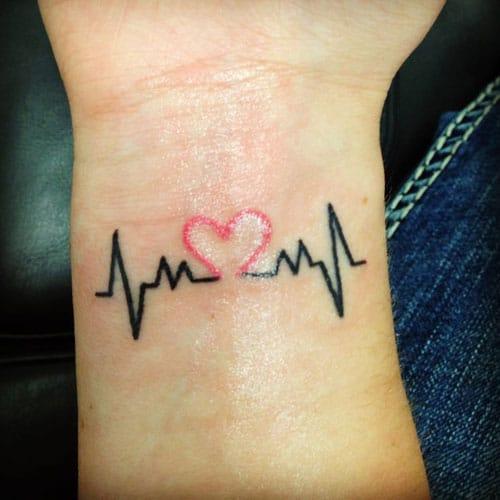 Small Tattoo Ideas Heartbeat