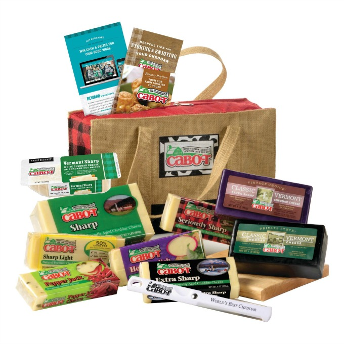 Cabot gift package of assorted cheddars