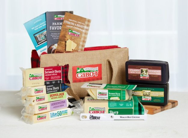 Cabot Cheese prize package