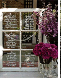 Wedding seating chart old window frame with white writing also creative charts rh loveandlavender