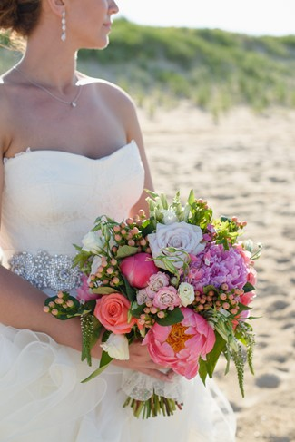 Navy Blue Themed Beach Wedding at Sanderling Resort