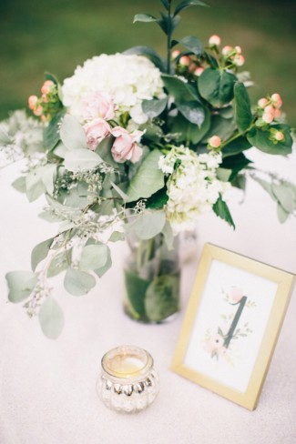 Classic Outdoor Garden Wedding with Gold Touches