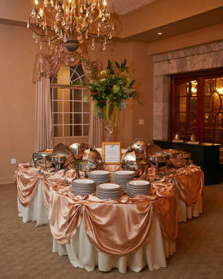 Wedding at the Tate House Mansion in Pink  Gold