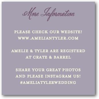 Address Exle Wedding Enclosure Card