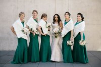 Wedding Fashion: Faux Fur Wraps for Bridesmaids + Brides