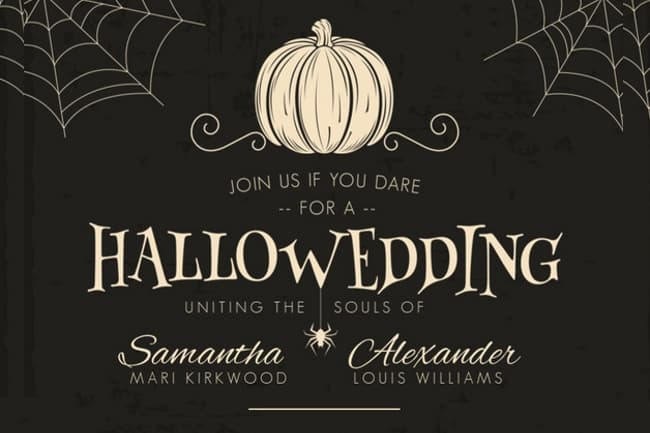 8 freakishly awesome halloween wedding
