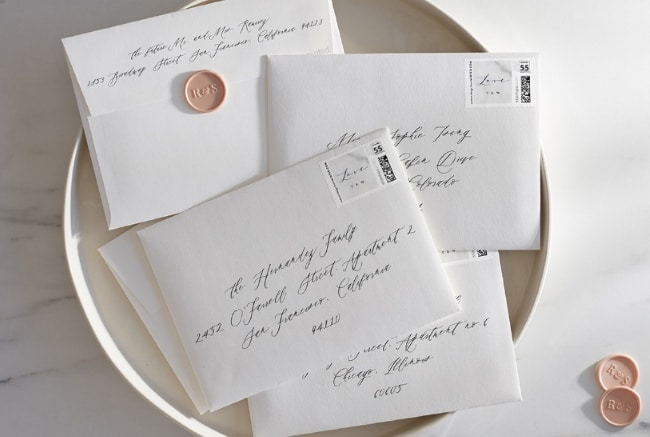 Guide To Addressing Wedding Envelopes Handwritten Vs
