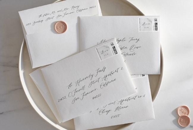 Guide To Addressing Wedding Envelopes Handwritten Vs Printed Calligraphy