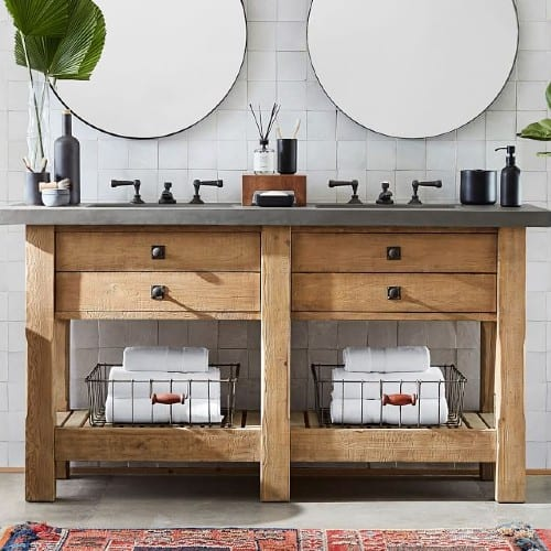 rustic farmhouse bathroom vanity ideas