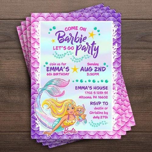 10 mermaid birthday invitations to