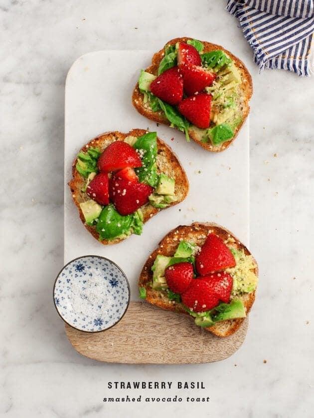 Love and Lemon's Strawberry Basil Smashed Avocado Toast