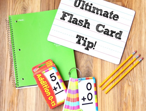 School Supplies Flash Cards