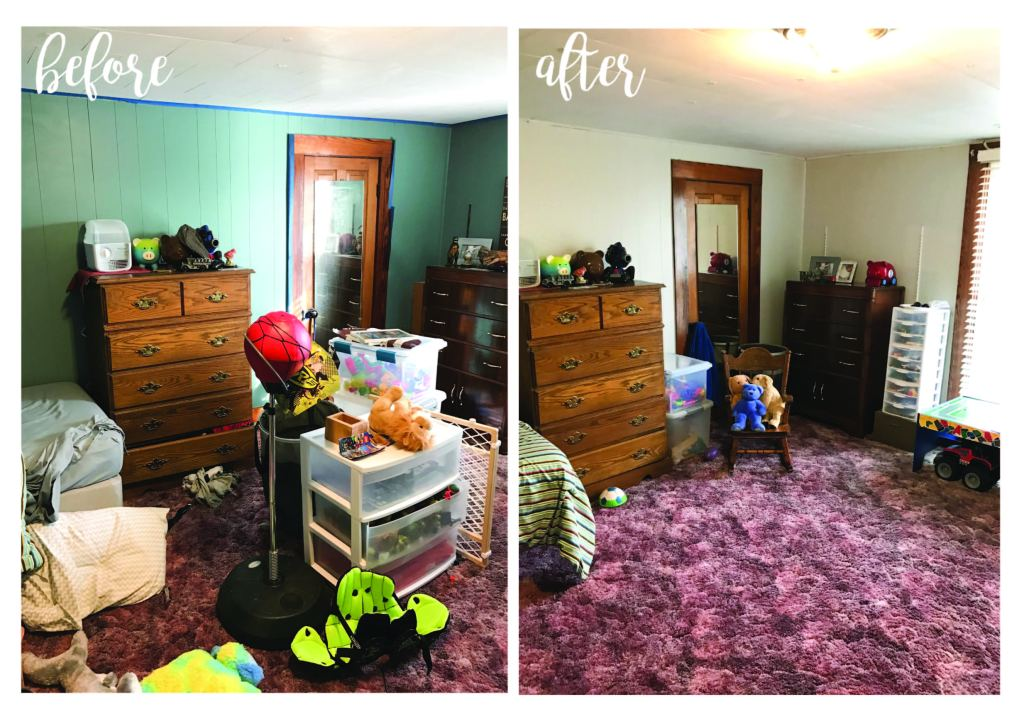 Before & After Boy's Room | www.loveandmessiness.com