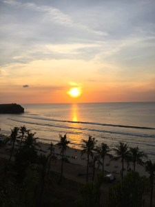 Balangan beach sunset bali indonesia