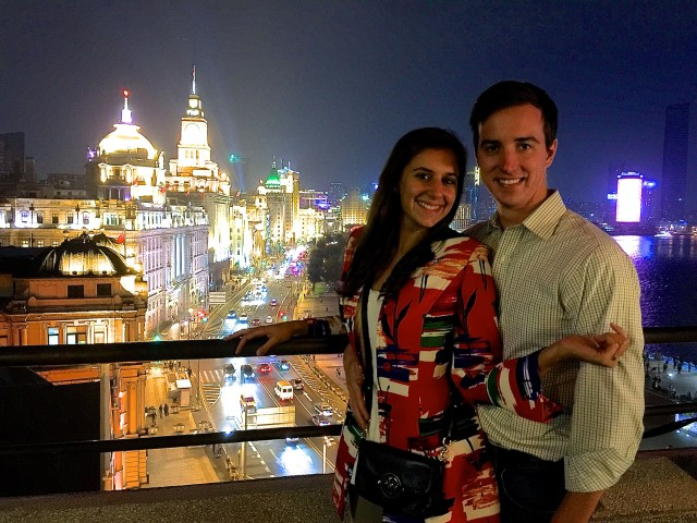 M on the Bund, Shanghai, night scene, love and noodles