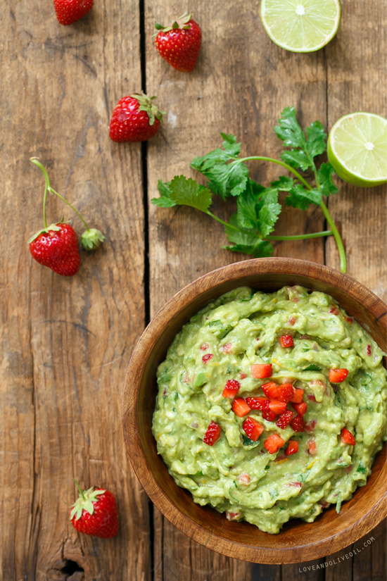 Strawberry Guacamole by Love & Olive Oil