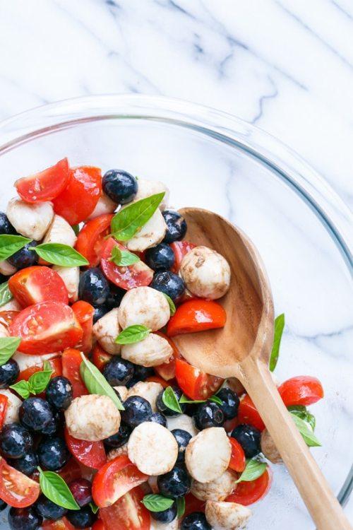 Blueberry Caprese Salad patriotic salads