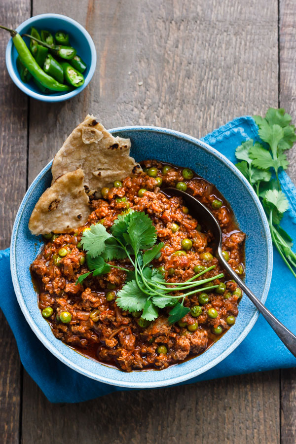 Keema curry with vegetables