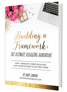 Building a framework- Ultimate Blogging Handbook