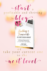"Start a blog, specifically a profitable blog, and a thriving blog, or take your current blog to the next level with ""Building a framework: the ultimate Blogging Handbook and eCourse""."