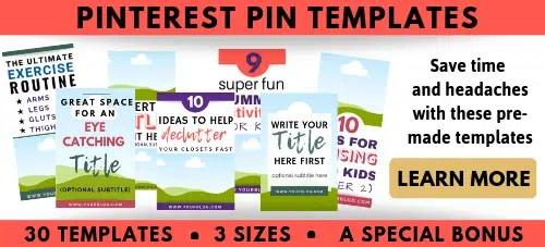 Pinterest Templates Bundle Editable in Canva