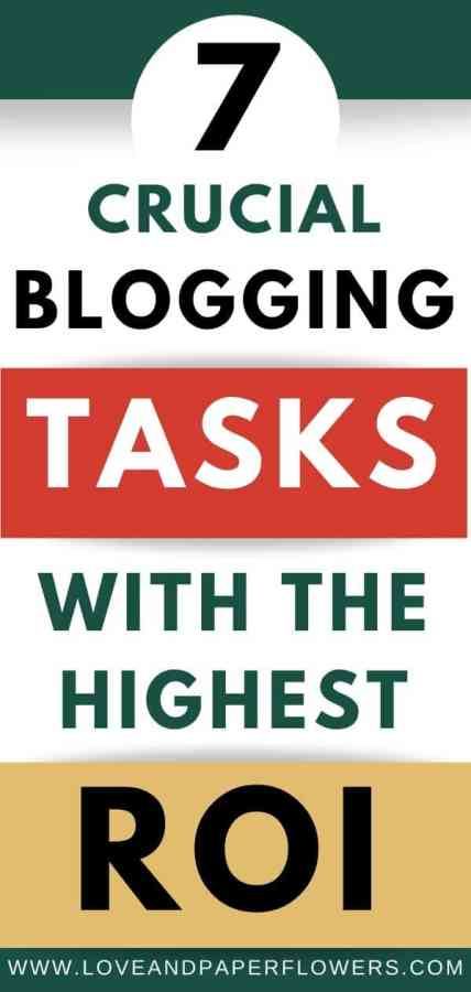 important blogging task to increase blogging income and traffic