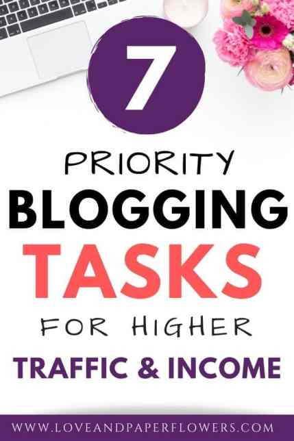 important blogging tasks for higher ROI
