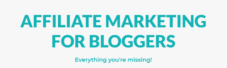 Affiliate Marketing Course for Bloggers