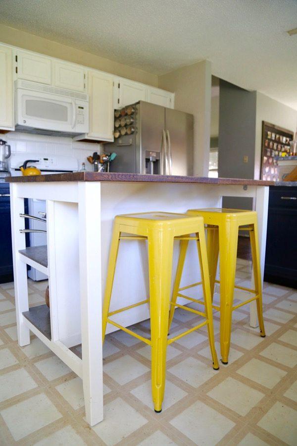 ikea stainless steel shelves for kitchen ninja mega system hack: stenstorp island | love & renovations