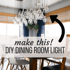 4 Person Kitchen Table Cabinet Kings Diy Multi-bulb Dining Room Chandelier | Love & Renovations