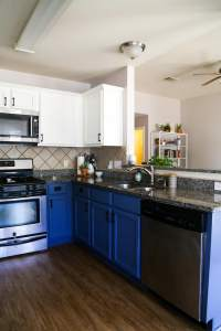 Blue & White Kitchen Cabinets | Love & Renovations