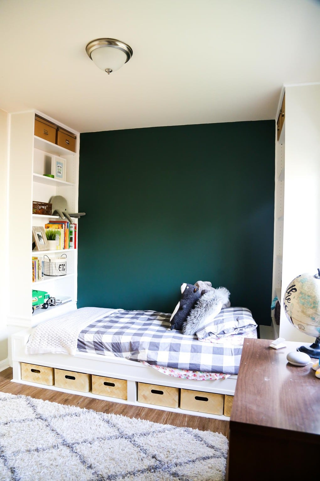 Easy Diy Bed With Built In Shelves Using Ikea Bookcases