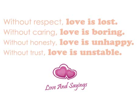 Without Caring Love Is ....