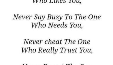 Never Say Busy To The One Who Needs You