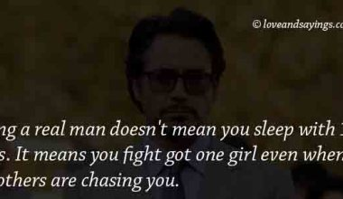 Being A Real man