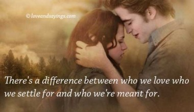 Difference between who we love