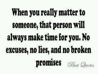 No Excuses No Lies And no Broken promises