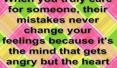 Their Mistakes never Chanve your Feelings