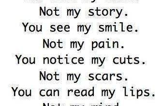 You see My Smile Not my pain