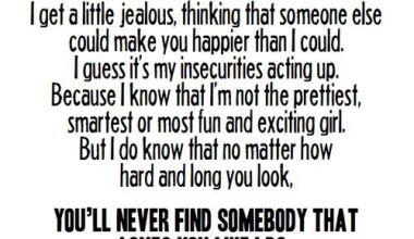 I Am Sorry Sometimes I Get A Little Jealous