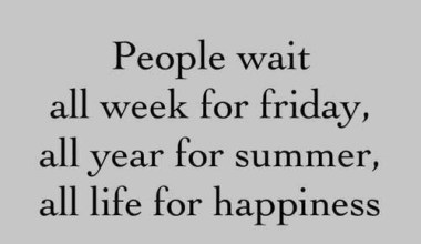 People Wait All Week For...........